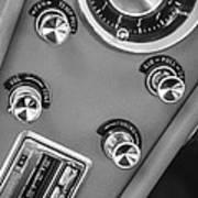 1963 Chevrolet Corvette Split Window Dash -334bw Art Print