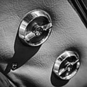1963 Chevrolet Corvette Split Window Door Latch -292bw Art Print