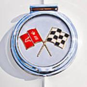 1963 Chevrolet Corvette Split Window - Sting Ray Emblem -257c2 Art Print