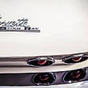 1963 Chevrolet Corvette Split Window Taillight Emblem -458c Art Print
