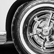 1963 Chevrolet Corvette Split Window Wheel -090bw Art Print