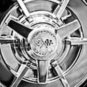1963 Chevrolet Corvette Split Window Wheel -111bw Art Print
