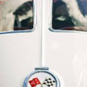 1963 Chevrolet Corvette Split Window Wheel Emblem -118c Art Print