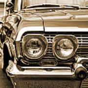 1963 Chevrolet Impala Ss In Sepia Art Print