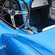 1963 Corvette Driver Approach Art Print