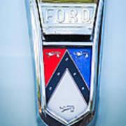 1963 Ford Falcon Futura Convertible Emblem Art Print by Jill Reger