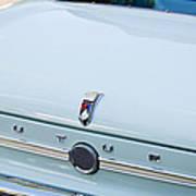 1963 Ford Falcon Futura Convertible  Rear Emblem Art Print by Jill Reger