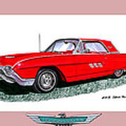 1963 Ford Thunderbird Art Print by Jack Pumphrey