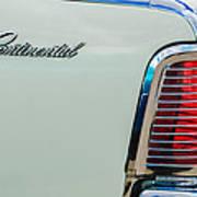 1963 Lincoln Continental Taillight Emblem -0905bw Art Print