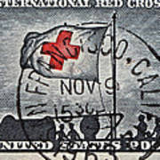 1963 Red Cross Stamp - San Francisco Postmark Art Print