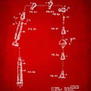 1963 Space Capsule Patent Red Art Print
