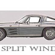 1963 Split Window Art Print