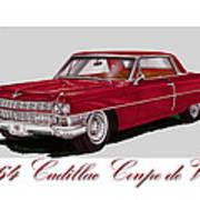 1964 Cadillac Coupe De Ville Art Print