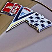 1964 Chevrolet Corvette Coupe Emblem Art Print