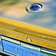 1964 Chrysler 300k Convertible Emblem -3529c Art Print