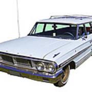 1964 Ford Galaxy Country Sedan Stationwagon Art Print