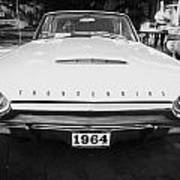 1964 Ford Thunderbird Painted Bw Art Print