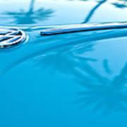 1964 Volkswagen Vw Bug Emblem Art Print