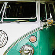 1964 Volkswagen Vw Samba 21 Window Bus Art Print