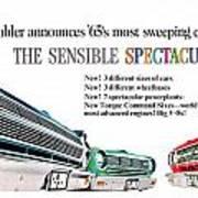 1965 - Rambler - Ambassador - American - Automobile Advertisement - Color Art Print