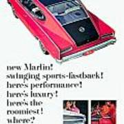 1965 - Rambler Marlin - Automobile Advertisement - Color Art Print