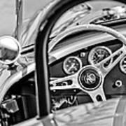 1965 Ac Cobra Steering Wheel Art Print