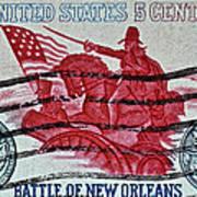 1965 Battle Of New Orleans Stamp Art Print