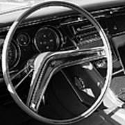 1965 Buick Riviera Steering Wheel Art Print