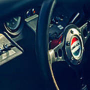 1965 Ford Gt 40 Steering Wheel Emblem Art Print