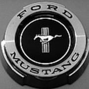 1965 Ford Mustang Emblem Art Print