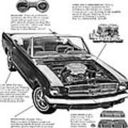 1965 Ford Mustang Performance Kits Art Print