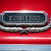 1965 Ford Torino Emblem Art Print
