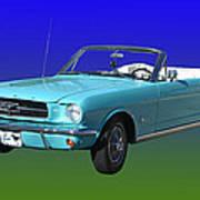 1965 Mustang Convertible Art Print