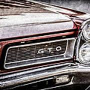 1965 Pontiac Gto Grille Emblem -0442ac Art Print