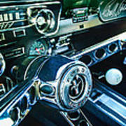 1965 Shelby Prototype Ford Mustang Steering Wheel Emblem 2 Art Print