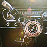 1965 Shelby Prototype Ford Mustang Steering Wheel Emblem Art Print by Jill Reger
