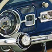 1965 Volkswagen Vw Beetle Steering Wheel Art Print
