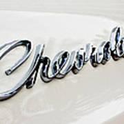 1966 Chevrolet Biscayne Emblem -0101c Art Print