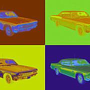 1966 Chevrolet Caprice 427 Muscle Car Pop Art Art Print