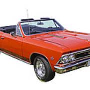 1966 Chevrolet Chevelle Convertible 283  Art Print