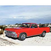 1966 Chevrolet El Camino 327 Art Print