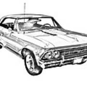 1966 Chevy Chevelle Ss 396 Illustration Art Print