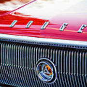 1966 Dodge Charger Grille Emblem Art Print