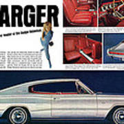 1966 Dodge Charger - New Leader Of The Dodge Rebellion Art Print
