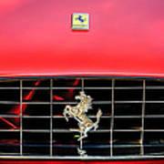 1966 Ferrari 330 Gtc Coupe Hood Emblem -0391c Art Print