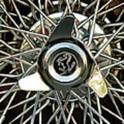 1966 Ferrari 330 Gtc Coupe Wheel Rim Emblem Art Print