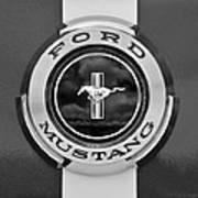 1966 Ford Mustang Shelby Gt 350 Emblem Gas Cap -0295bw Art Print