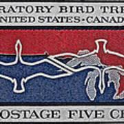 1966 Migratory Bird Treaty Stamp Art Print