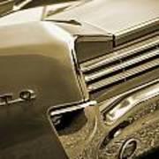 1966 Pontiac Gto Tail In Sepia Art Print
