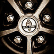 1966 Shelby Cobra Gt350 Wheel Rim Emblem Art Print
